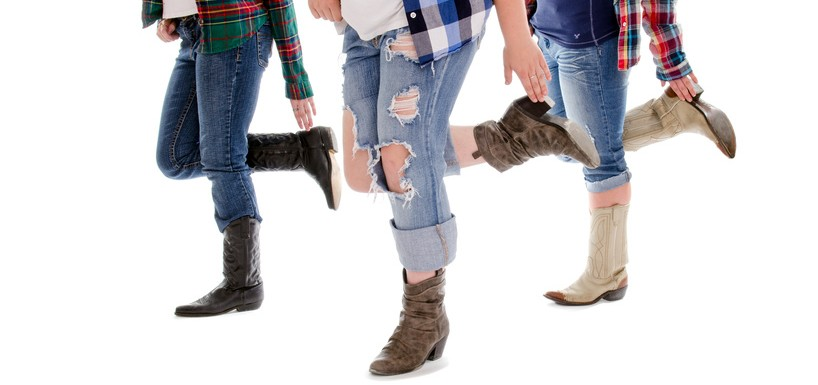 Country and Western Boots Line Dance Lessons
